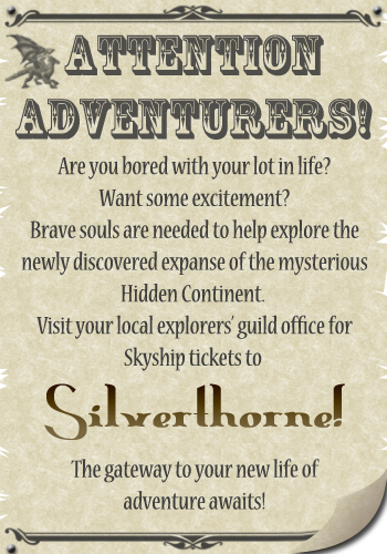 Silverthorne ~ On the Frontier of Fantasy! SilverthorneAd